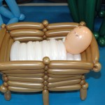 balloon characture of baby jesus