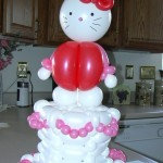 hello kit balloon cake