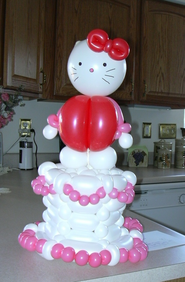 SAMMY J Balloon Creations st louis balloons hello kitty birthday cake