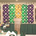 Mardi Gras Balloon Backdrop