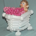 balloon bubble bath