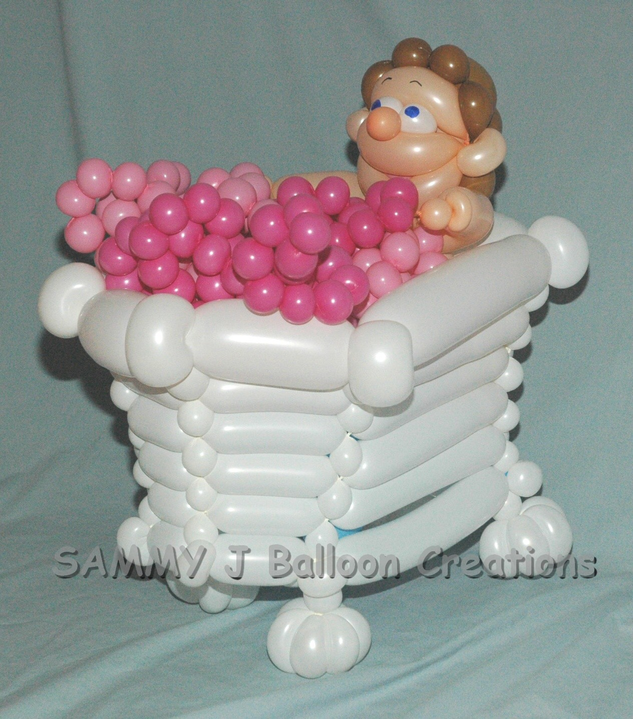 SAMMY J Balloon Creations st louis balloons bubble bath tub