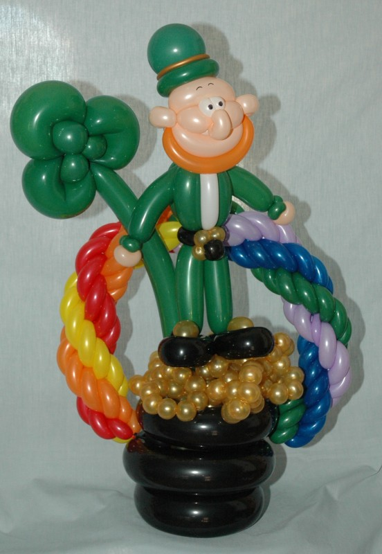 SAMMY J Balloon Creations st louis balloons leprechaun rainbow