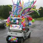 Festive Golf Cart