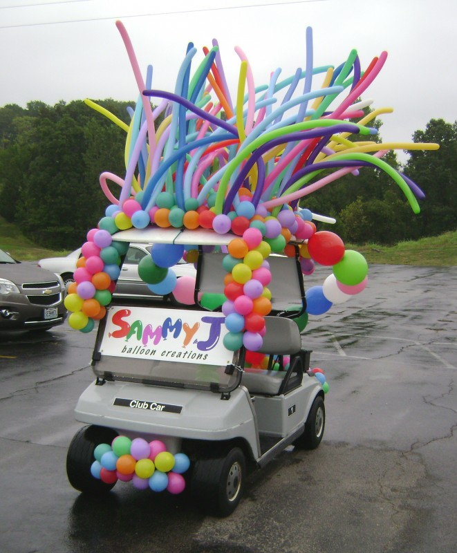 SAMMY J Balloon Creations st louis balloons golf cart 2019