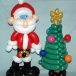 Santa & Christmas Tree