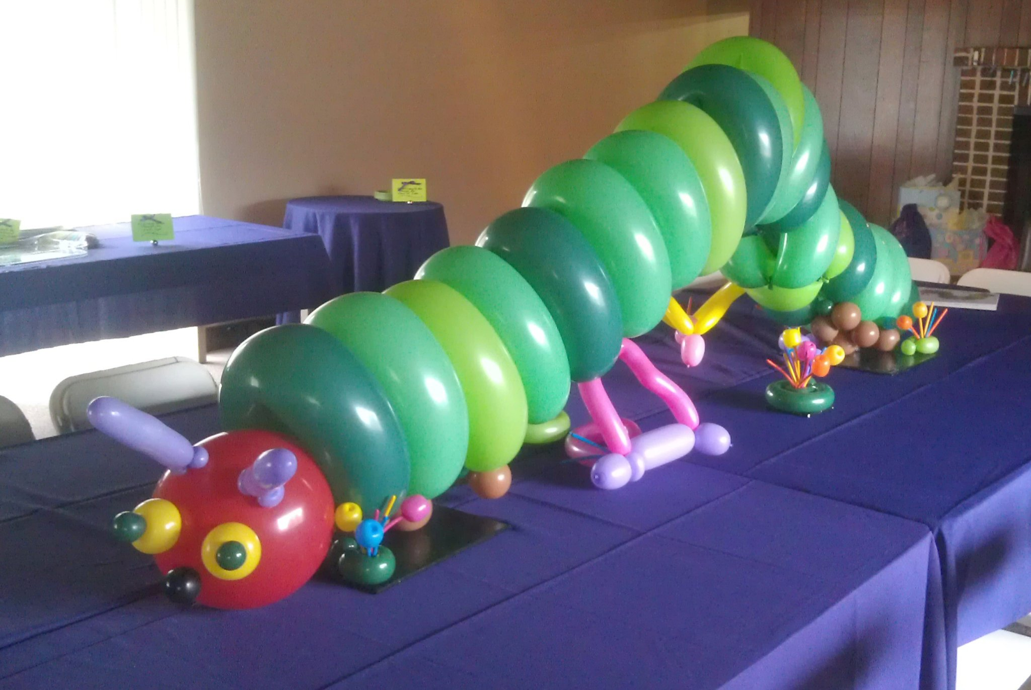 SAMMY J Balloon Creations st louis balloons hungry caterpiller