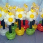 balloon daisy centerpieces