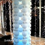 lighted balloon column