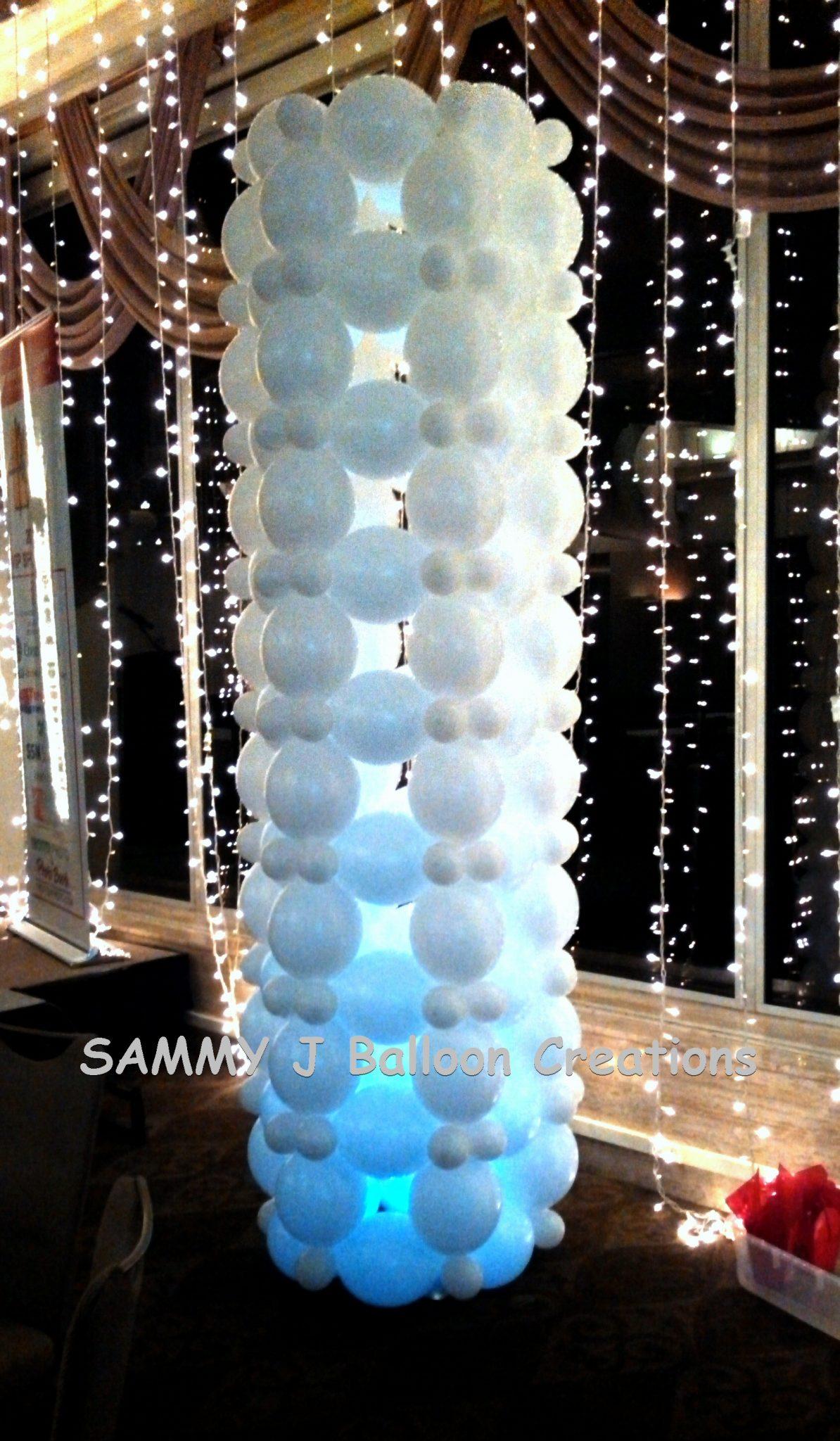 SAMMY J Balloon Creations st louis balloons lighted linkoloon column
