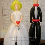 balloon bride groom