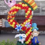nine balloon decoration