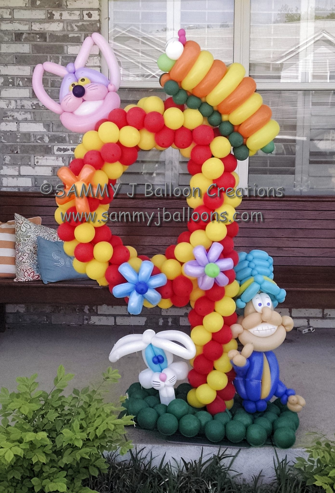 SAMMY J Balloon Creations st louis balloons number nine