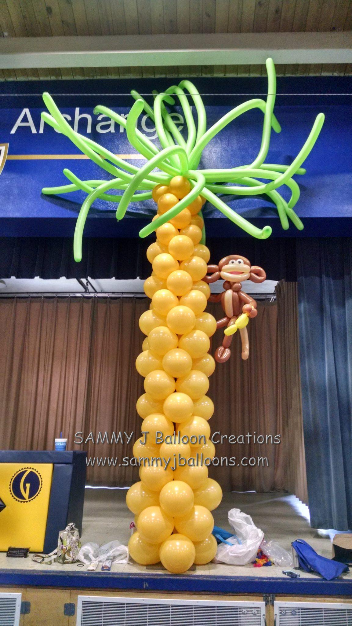 SAMMY J Balloon Creations st louis balloons monkey tree