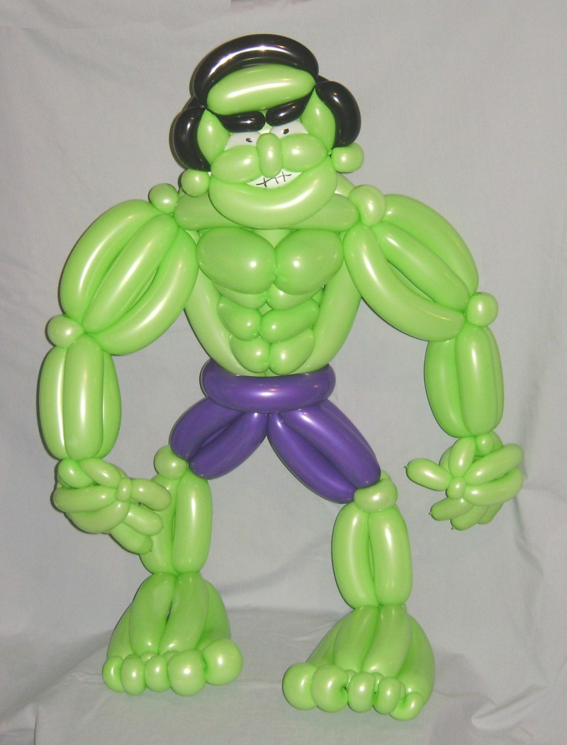 SAMMY J Balloon Creations st louis balloons hero hulk