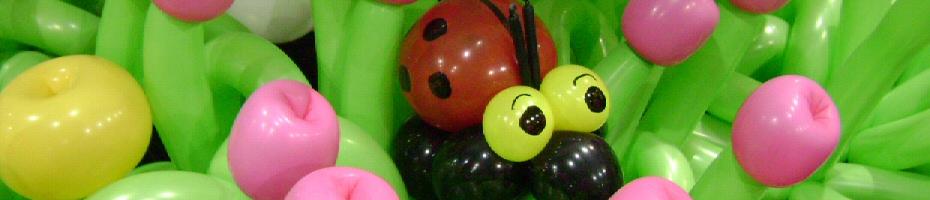 balloon ladybug flowers
