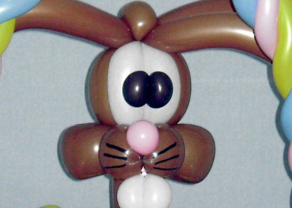 easter basket bunny bouquet by SAMMY J Balloon Creations