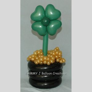 shamrock bouquet by SAMMY J Balloon Creations