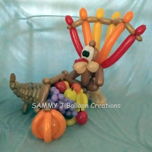 turkey cornucopia bouquet by SAMMY J Balloon Creations