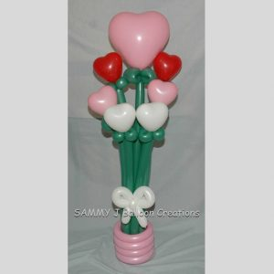 valentine bouquet by SAMMY J Balloon Creations