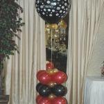half balloon column & helium topper
