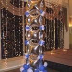 foil star balloon column