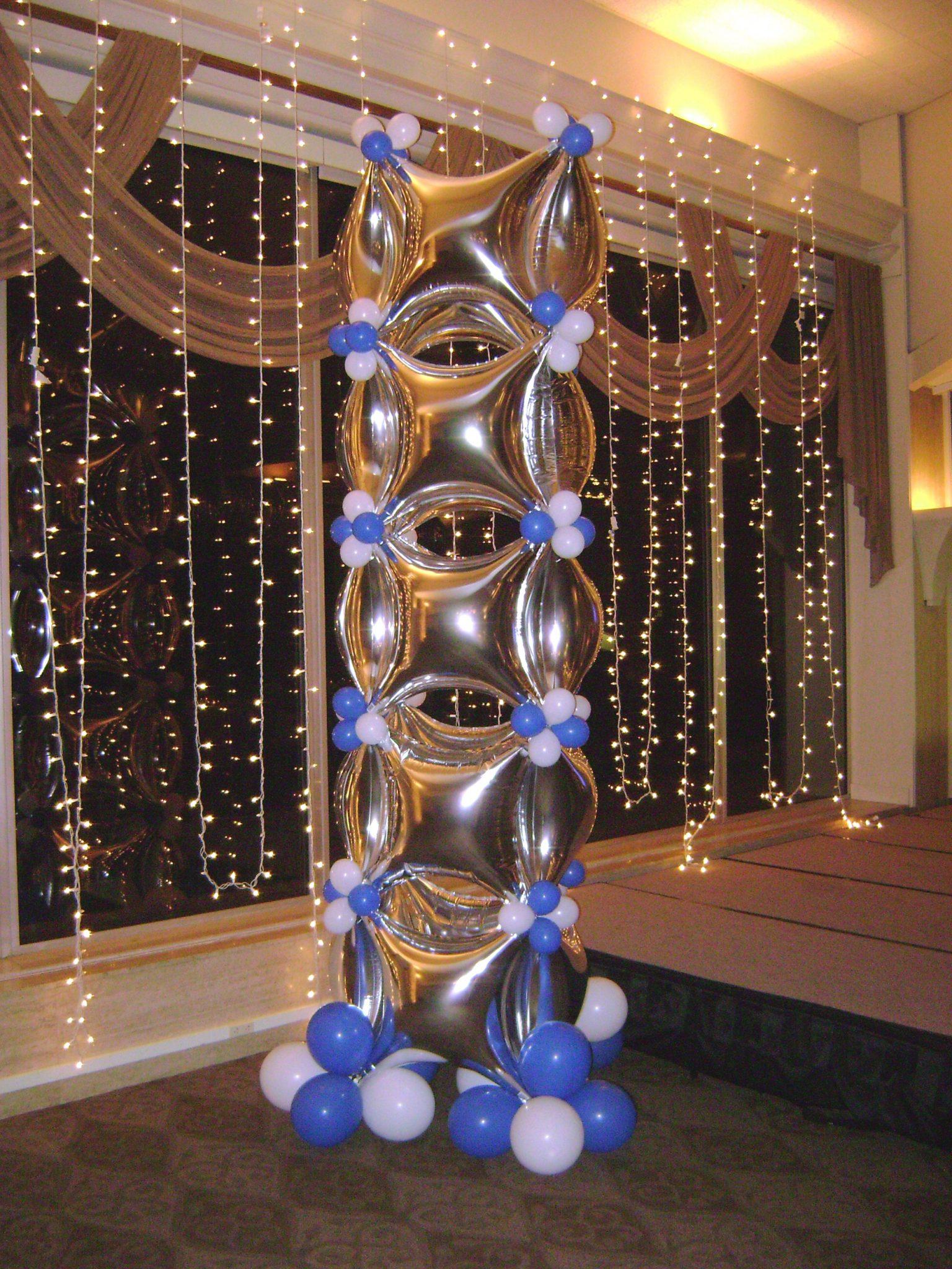 SAMMY J Balloon Creations st louis balloons foil star column