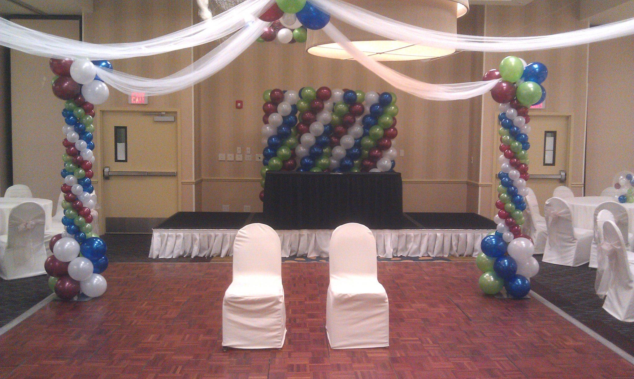SAMMY J Balloon Creations st louis balloons dance floor canopy column