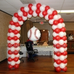 baseball balloon arch