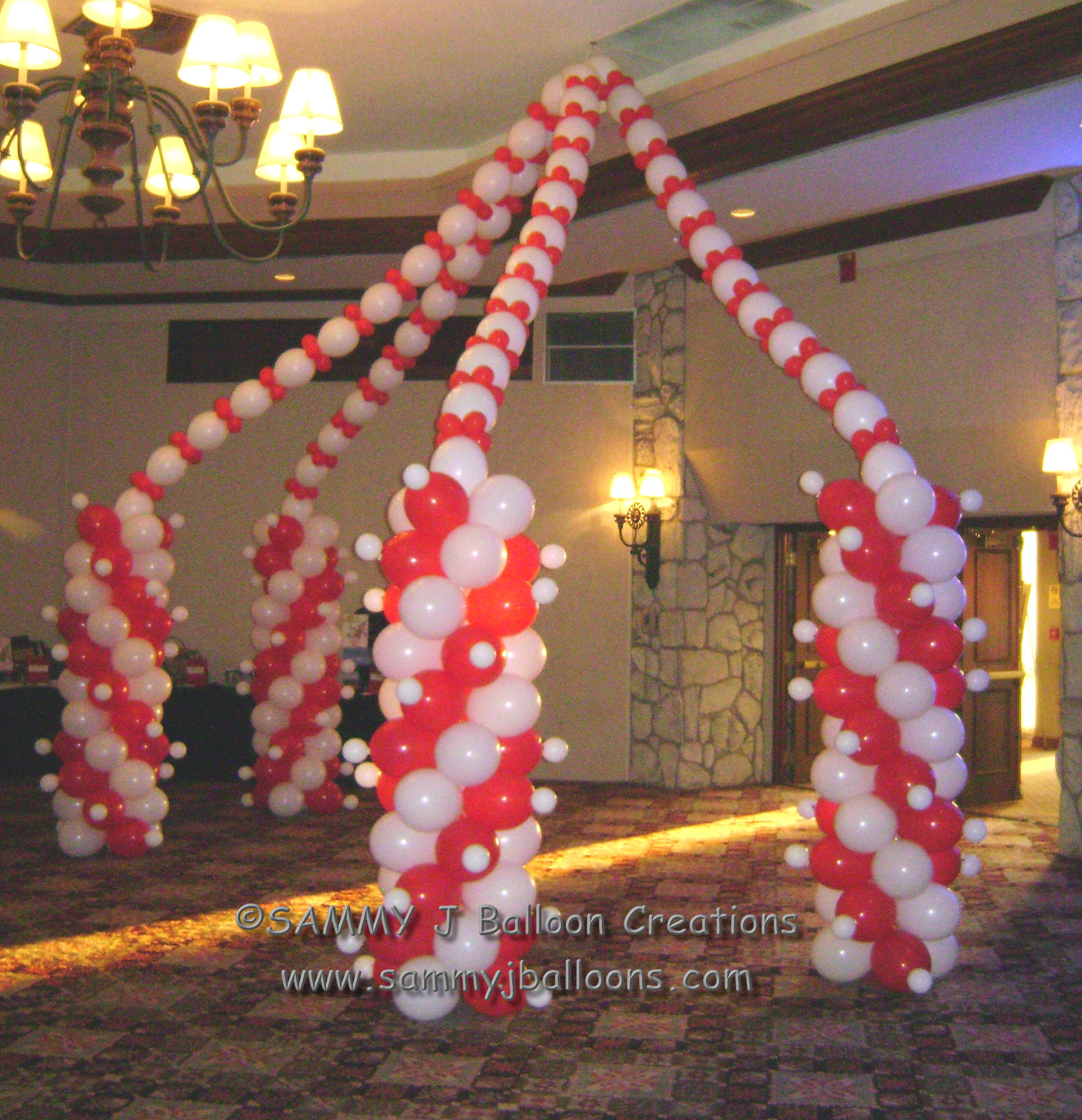 SAMMY J Balloon Creations st louis balloons circus tent column