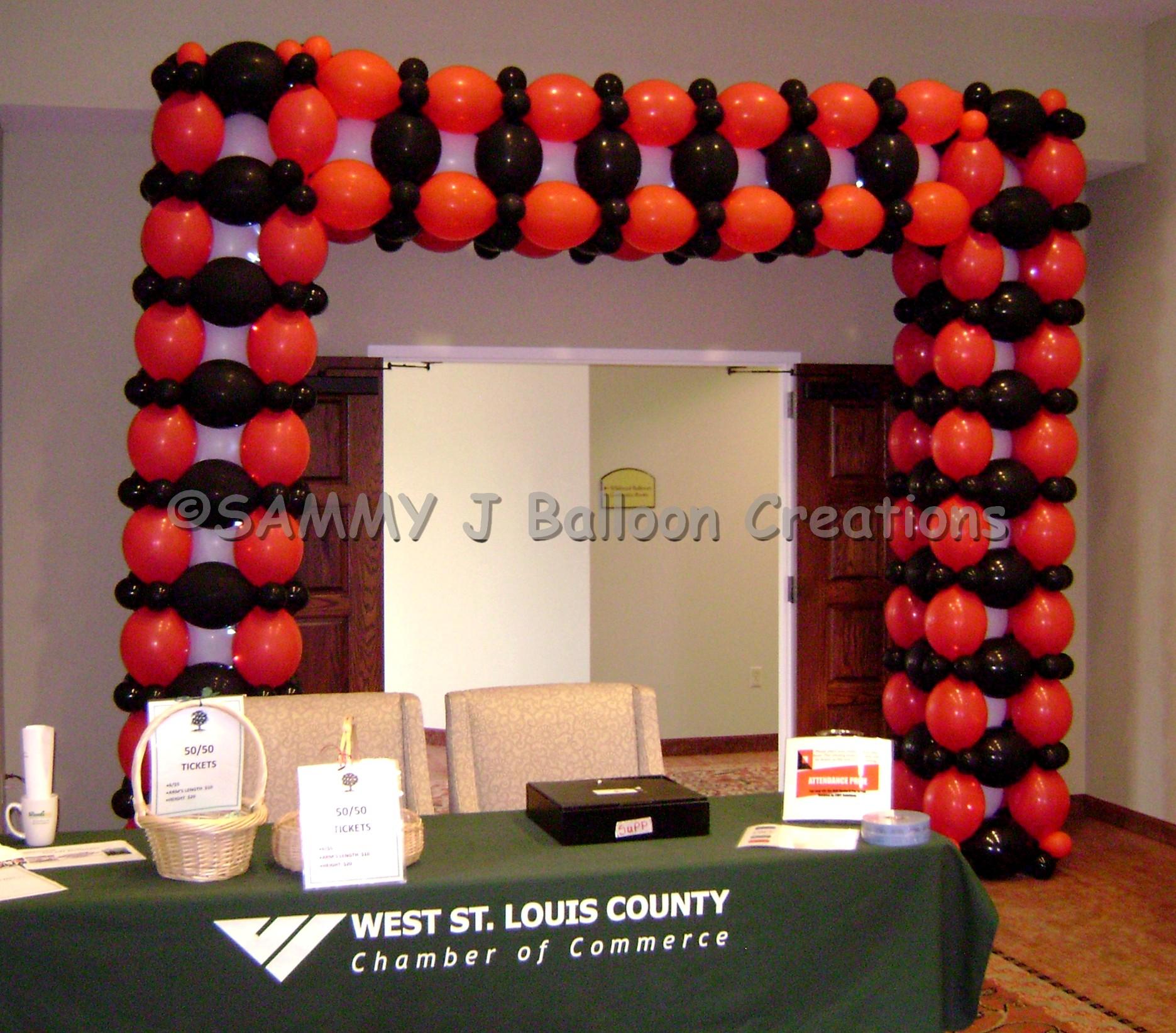 SAMMY J Balloon Creations st louis balloons casino arch