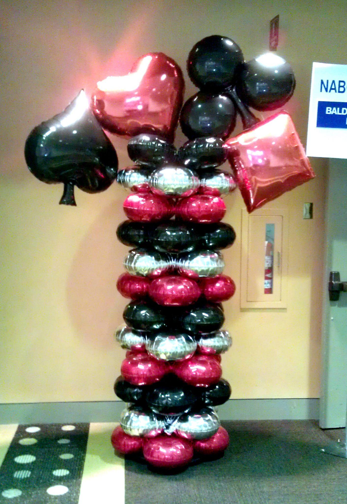 SAMMY J Balloon Creations st louis balloons card suits heart diamond spade club