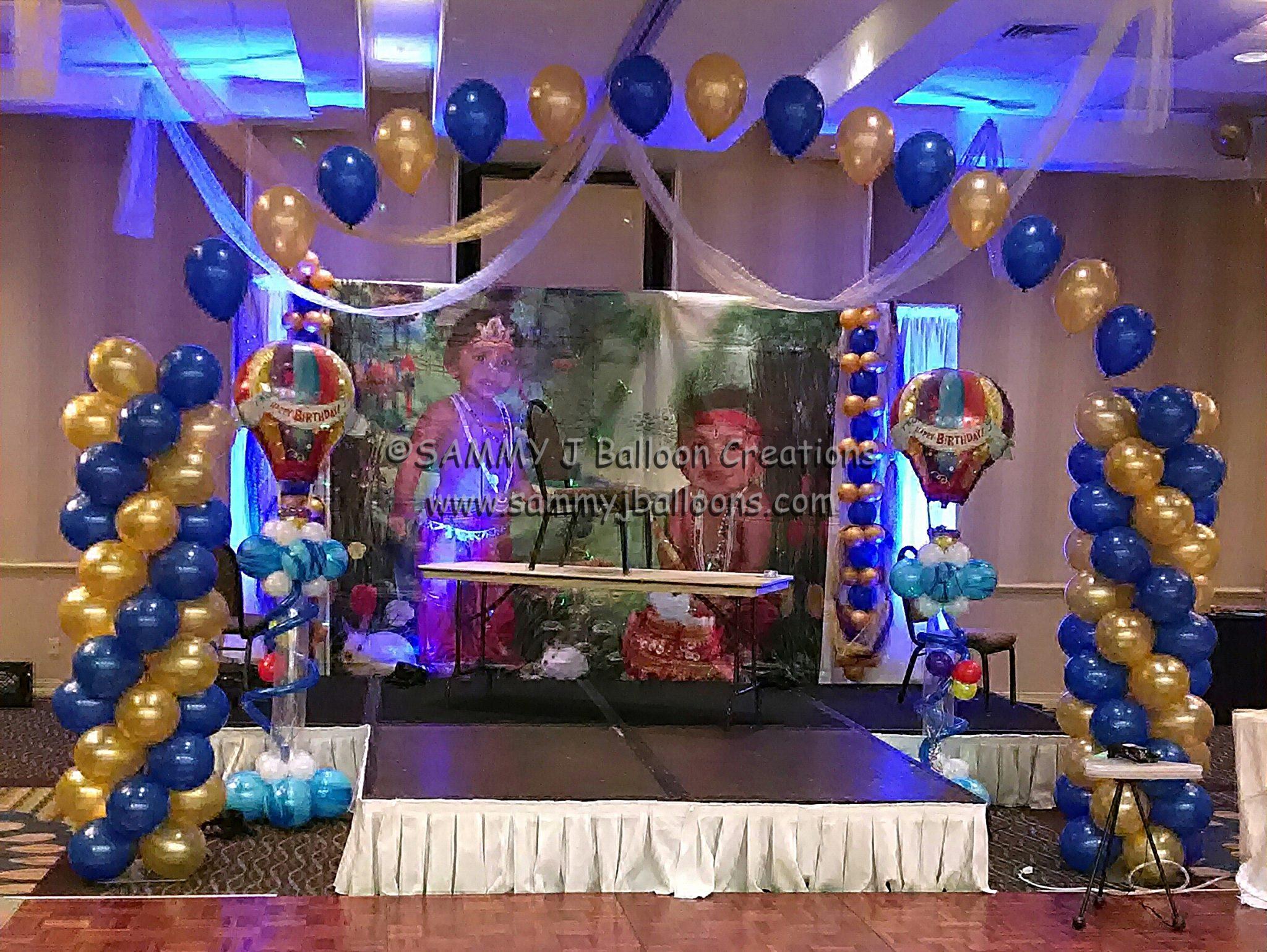 SAMMY J Balloon Creations st louis balloons stage decor column arch