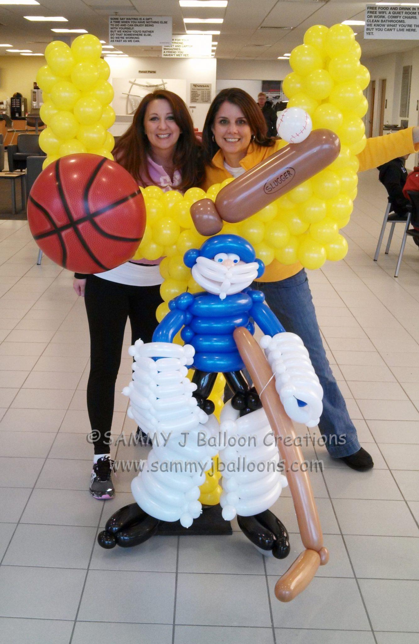 SAMMY J Balloon Creations st louis balloons sports football goal posts hockey goalie