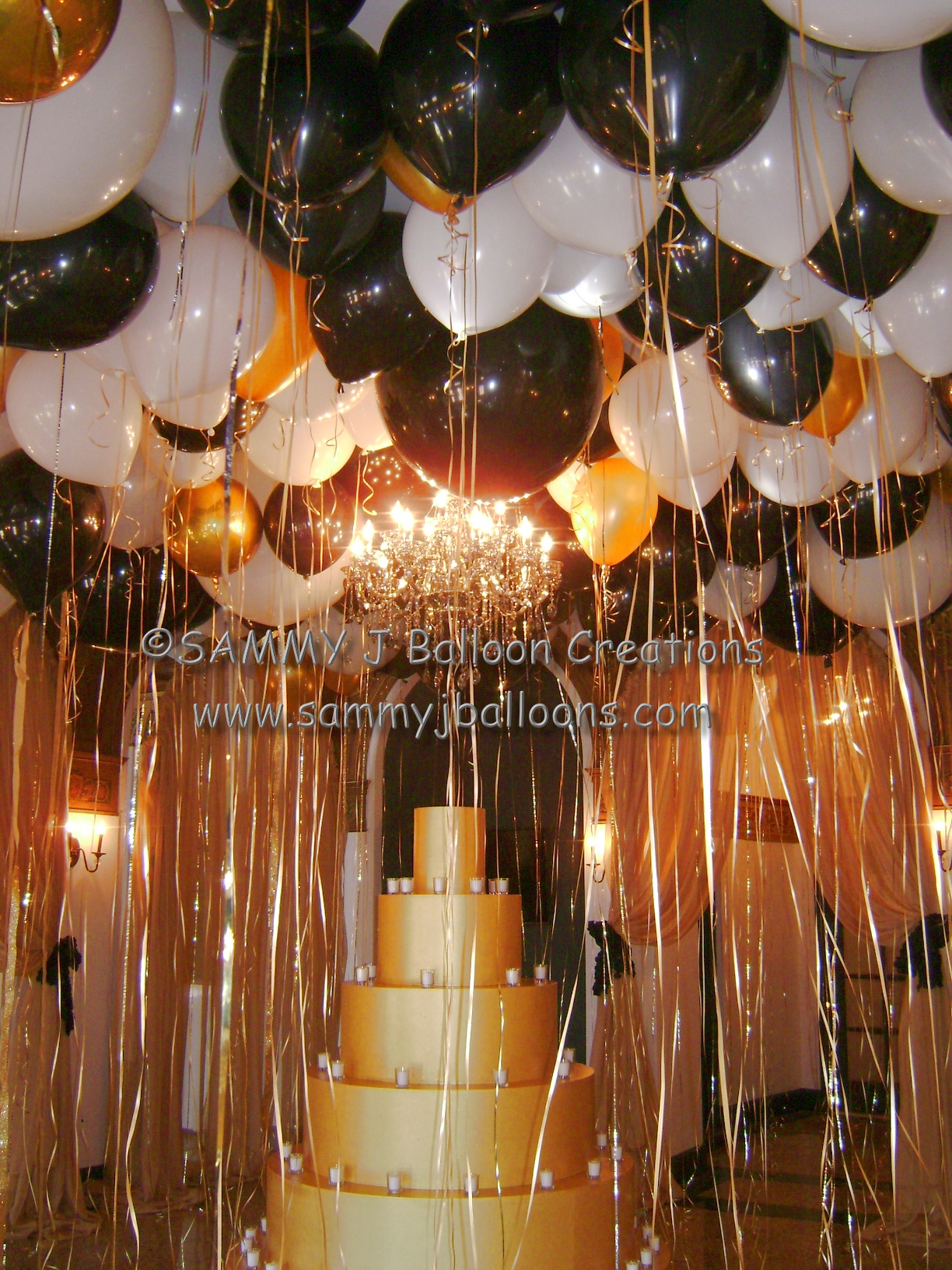 SAMMY J Balloon Creations st louis balloons ceiling canopy