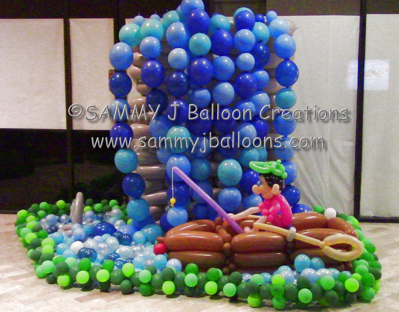SAMMY J Balloon Creations st louis balloons fisherman pond