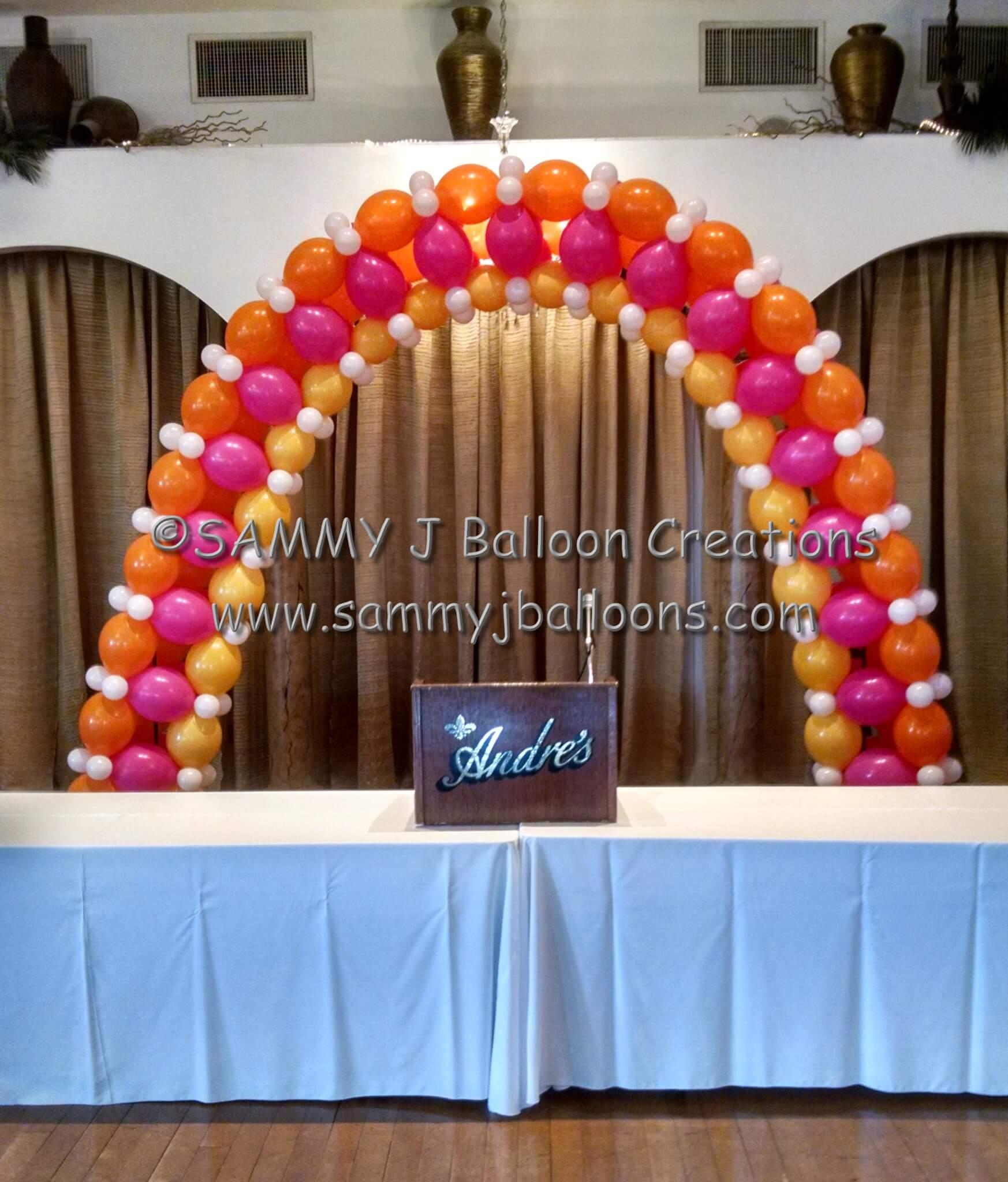SAMMY J Balloon Creations st louis balloons balloon party arch