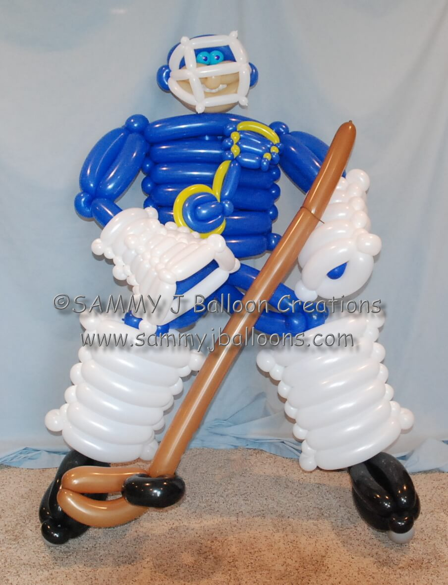 SAMMY J Balloon Creations st louis balloons octopus blues hockey player