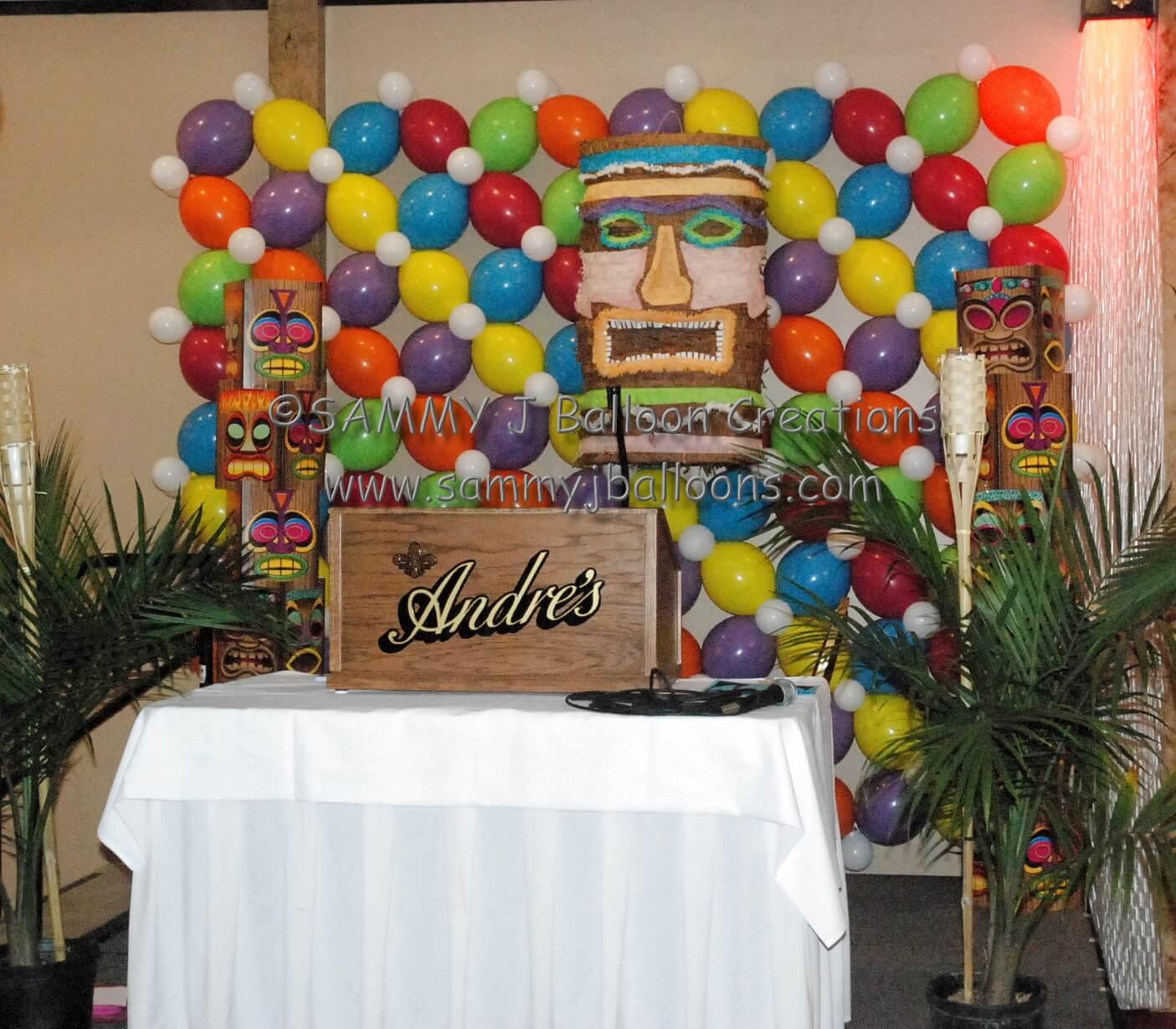SAMMY J Balloon Creations st louis balloons linkoloon backdrop wall