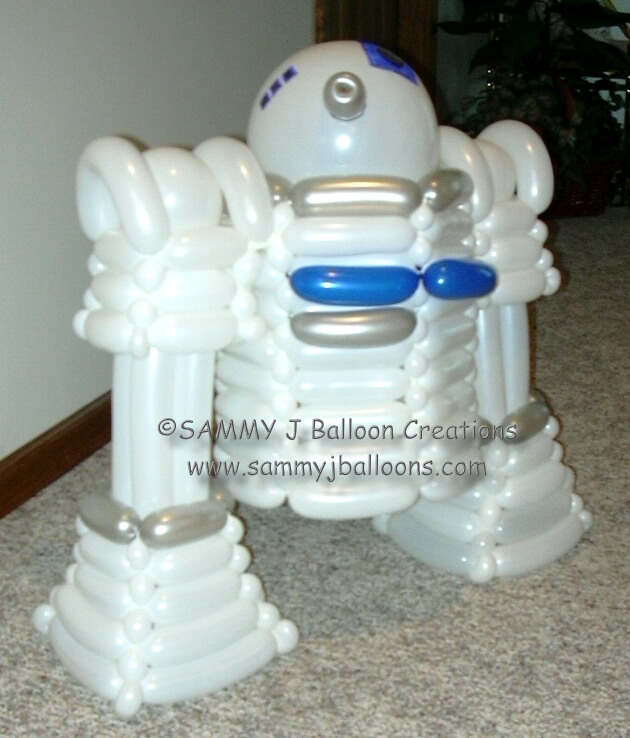 SAMMY J Balloon Creations st louis balloons r2d2 star wars robot
