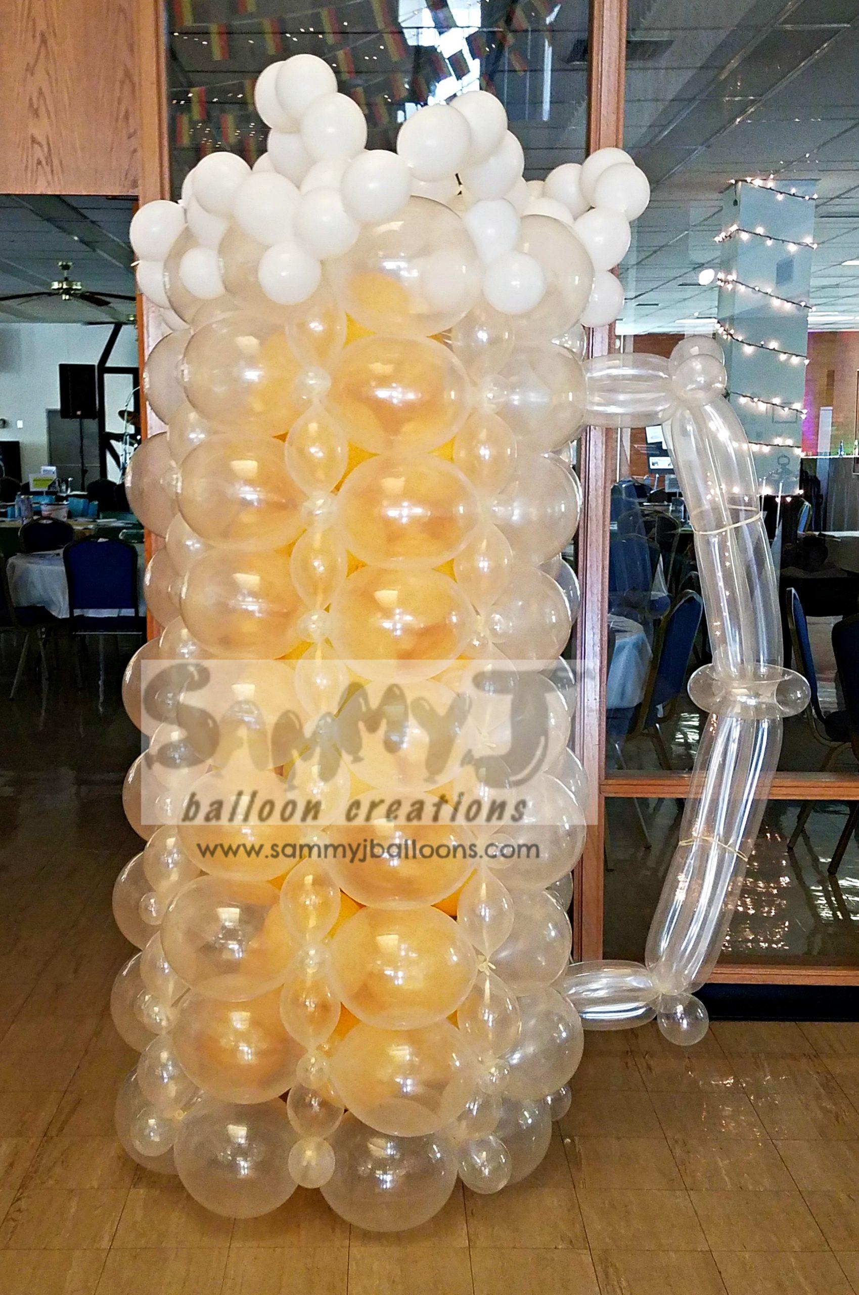 SAMMY J Balloon Creations st louis balloons beer mug