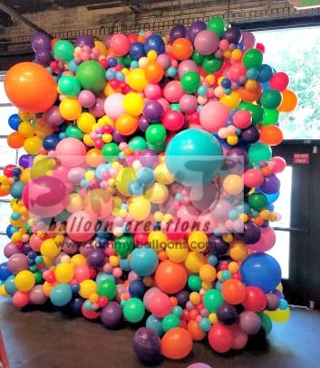 SAMMY J Balloon Creations st louis balloons organic wall backdrop