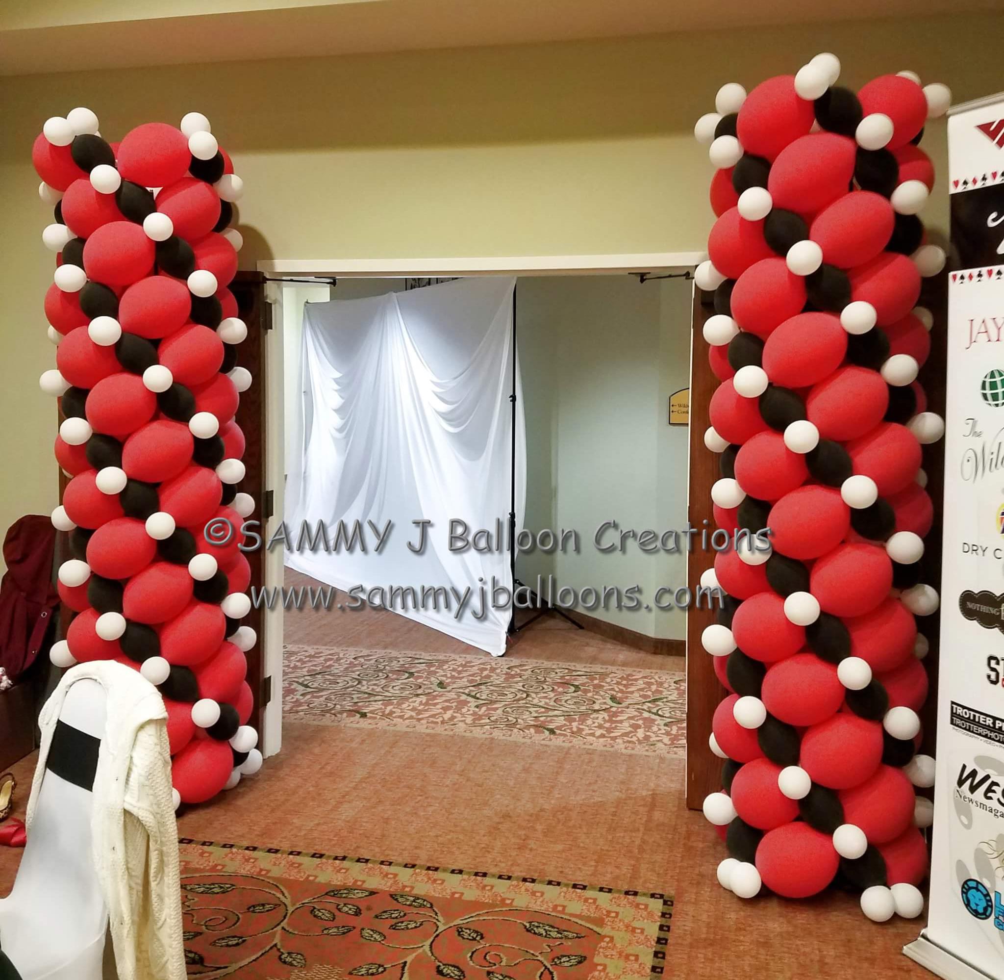 SAMMY J Balloon Creations st louis balloons casino column