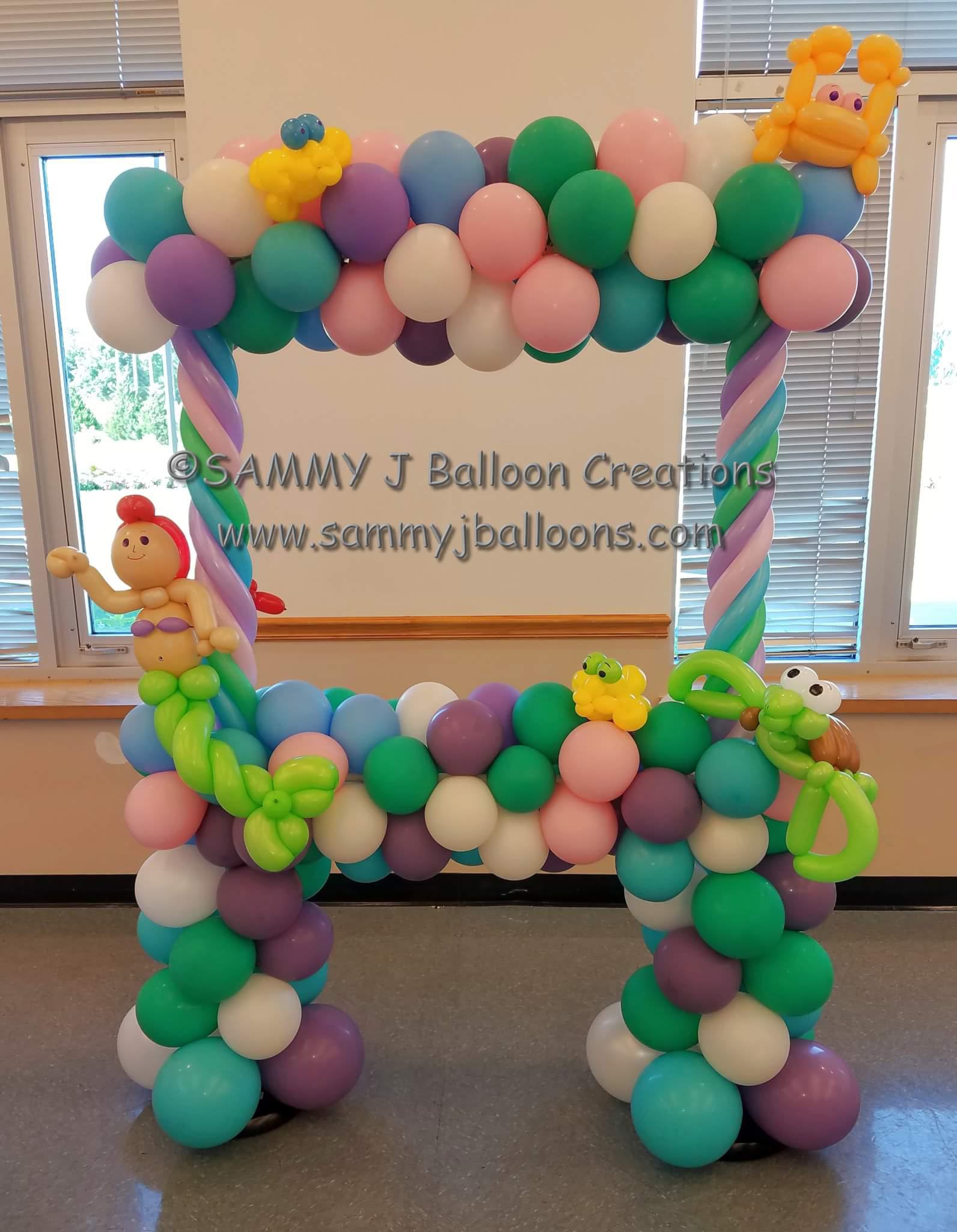 SAMMY J Balloon Creations st louis balloons mermaid photo frame