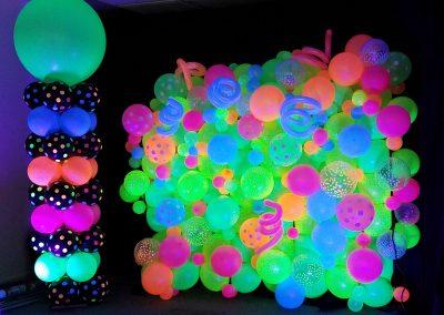 neon blacklight decor