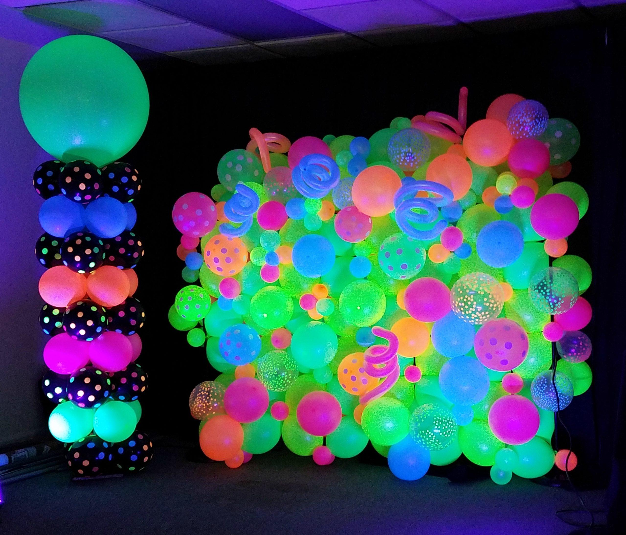 SAMMY J Balloon Creations st louis balloons neon wall