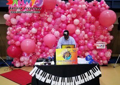 organic balloon backdrop