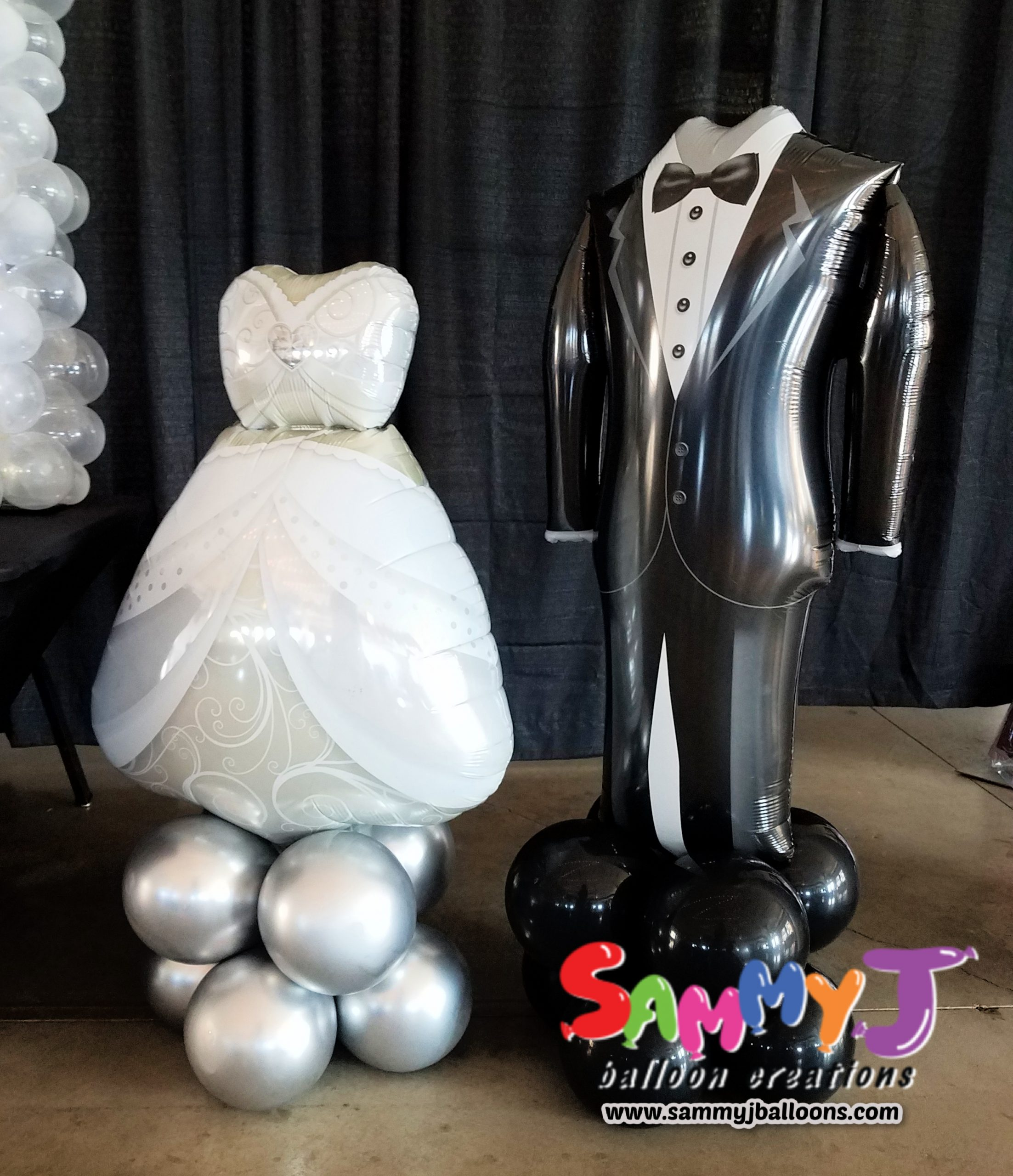 SAMMY J Balloon Creations st louis balloons bride groom wedding