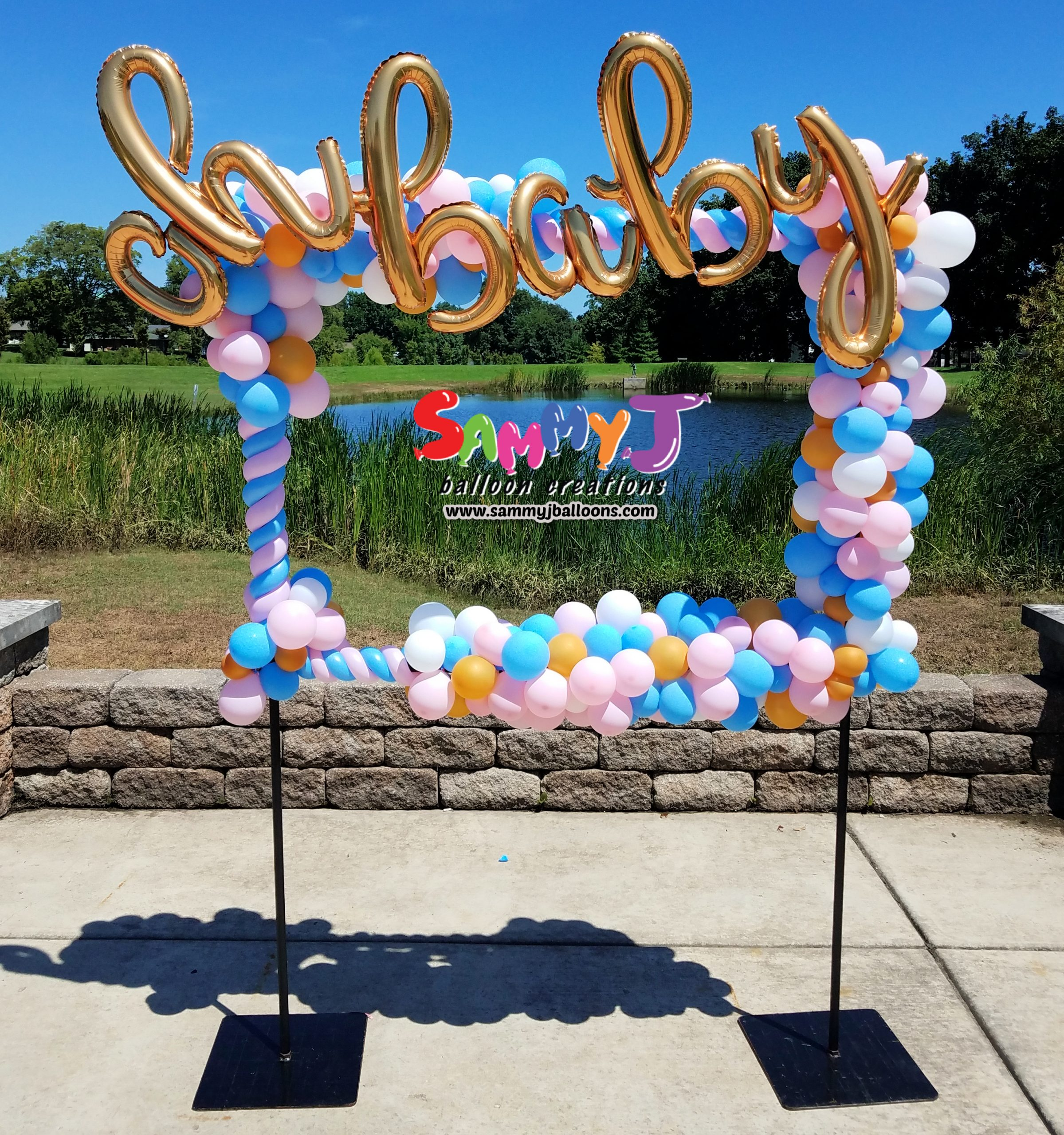 SAMMY J Balloon Creations st louis balloons baby picture frame
