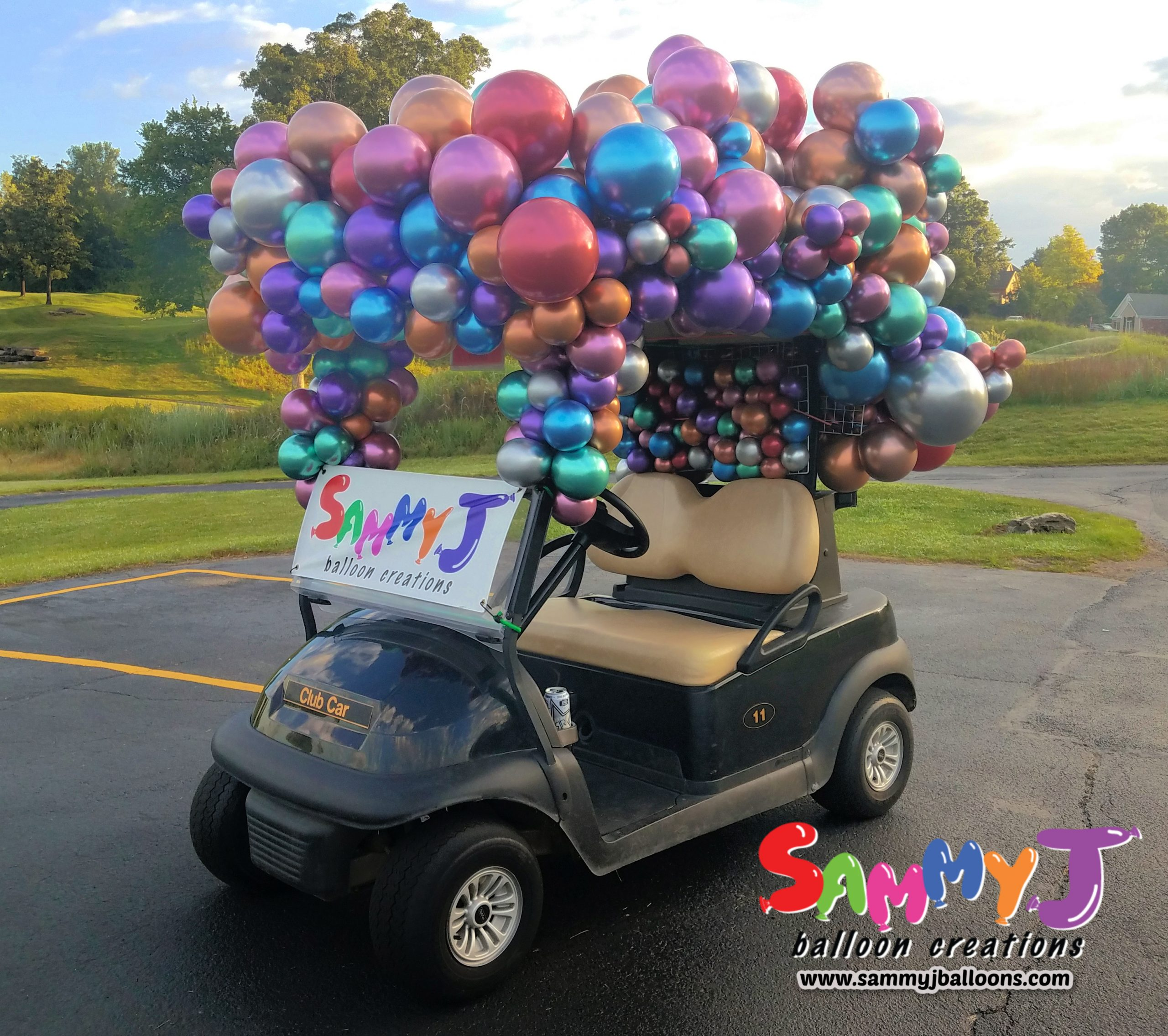 SAMMY J Balloon Creations st louis balloons golf cart 2020